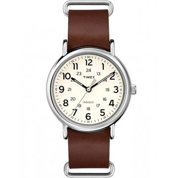 Ceas Timex Weekender Leather Oversized T2P495