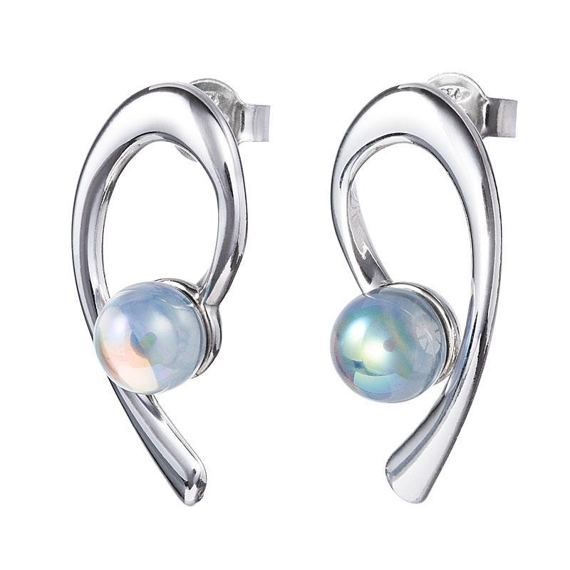 Crystal Dew - Cercei de argint Preciosa (Crystal AB)