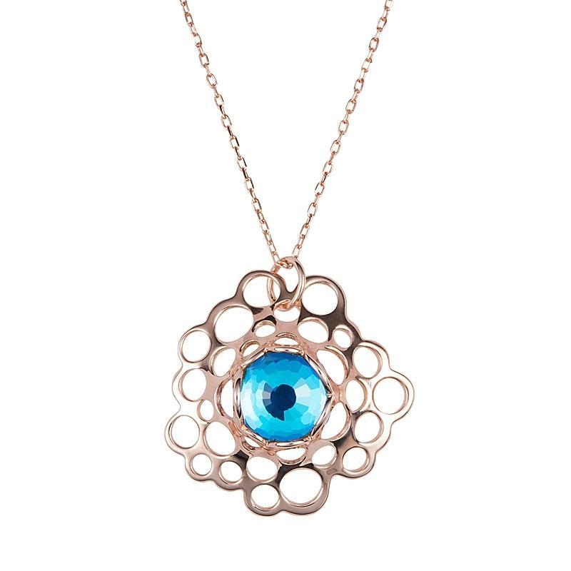 Fantaisie - Colier de argint Preciosa (Bermuda Blue)