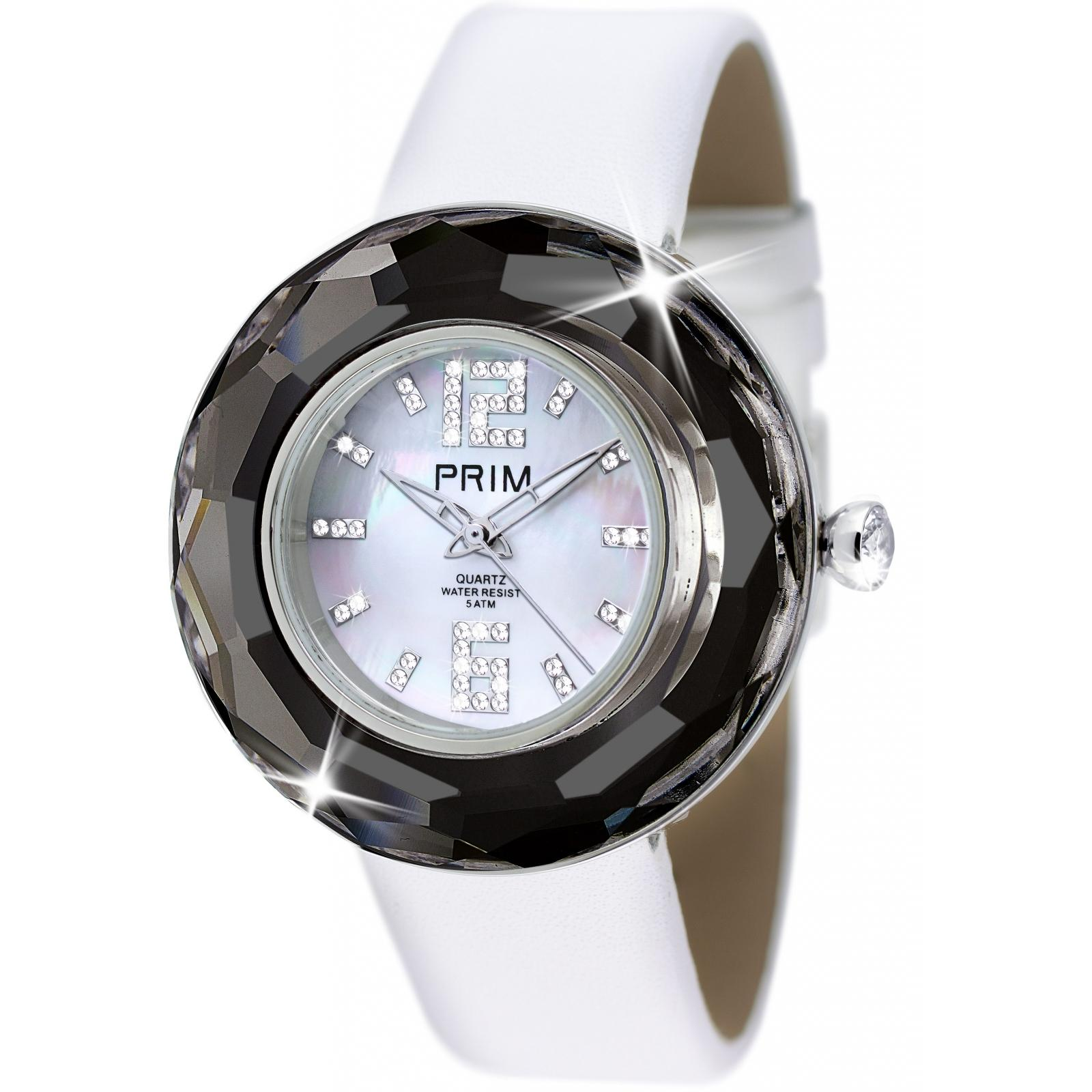 Crystal Time Premium - Ceas Preciosa (Chrome/White)