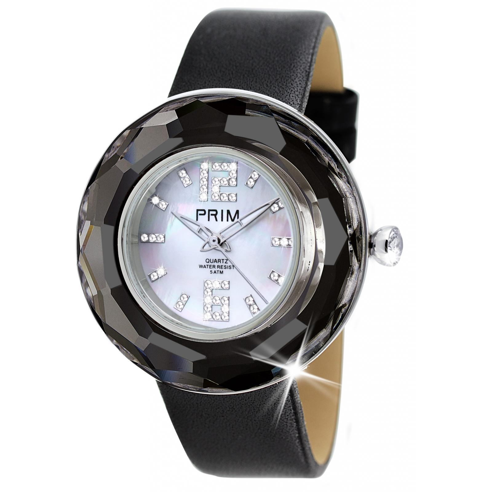 Crystal Time Premium - Ceas Preciosa (Chrome/Black)