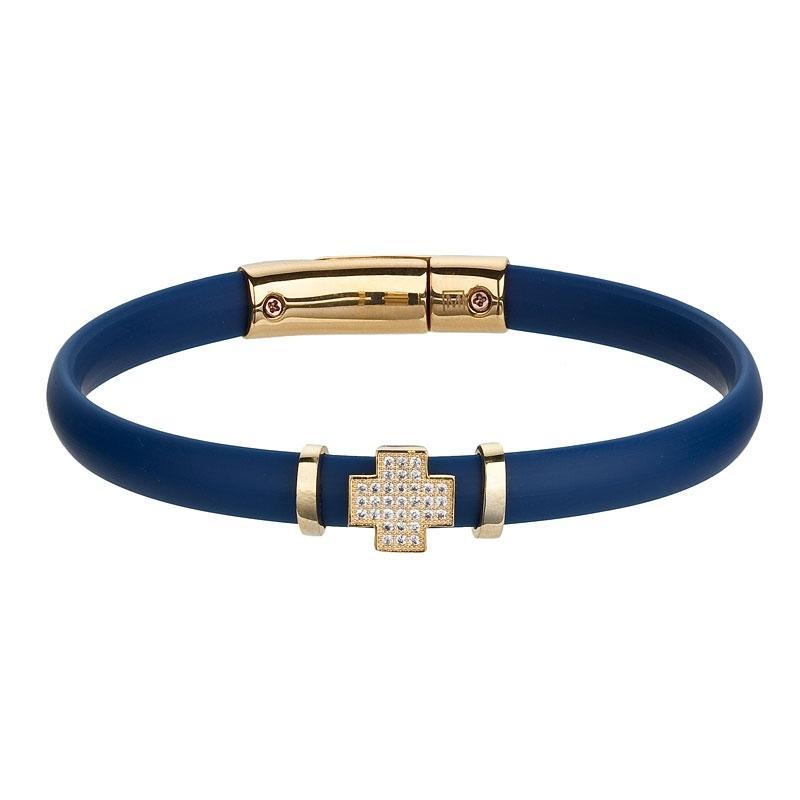A la mode - Bratara de argint Preciosa (Blue)