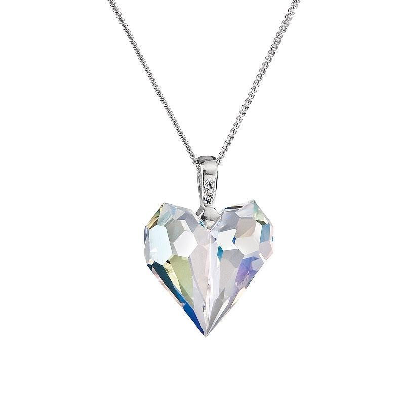 Amour - Colier de argint Preciosa (Crystal AB)