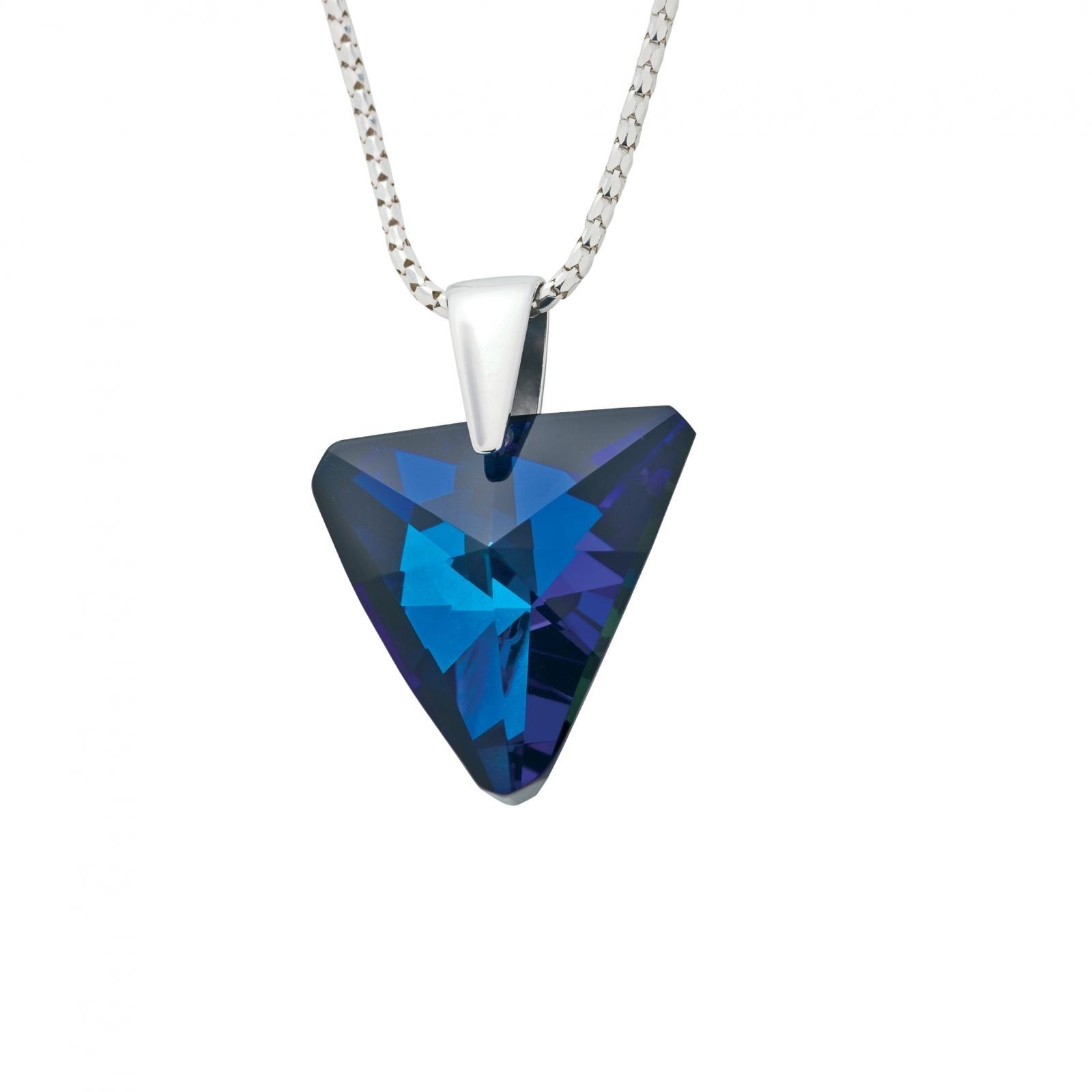 Veronique - Colier de argint Preciosa (Bermuda Blue)