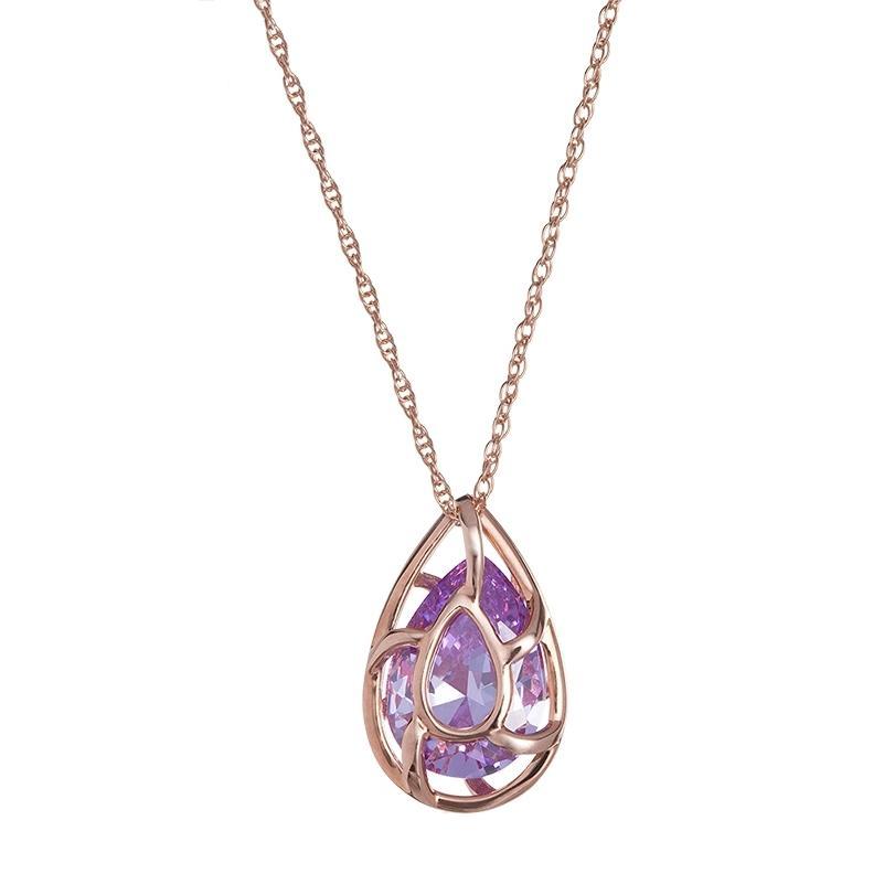 Enigmatic - Colier de argint Preciosa (Violet)