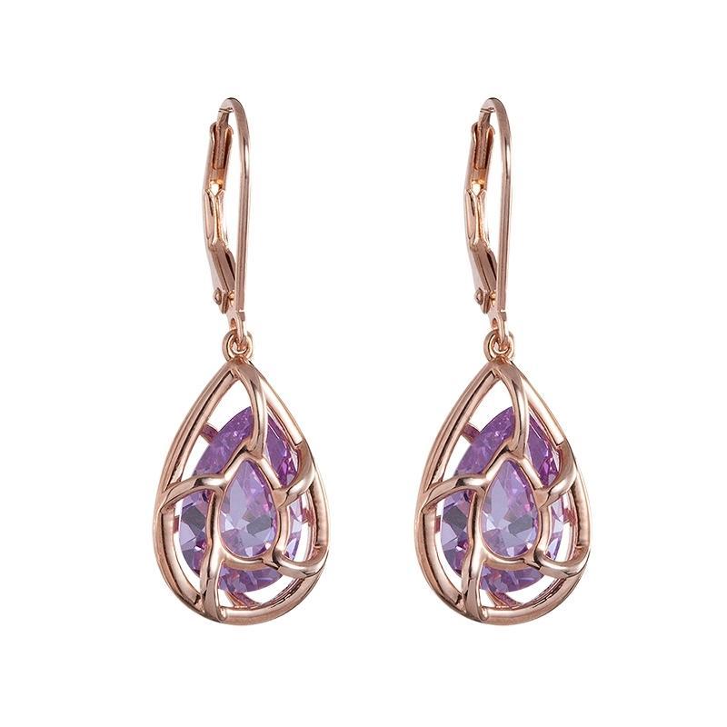 Enigmatic - Cercei de argint Preciosa (Violet)