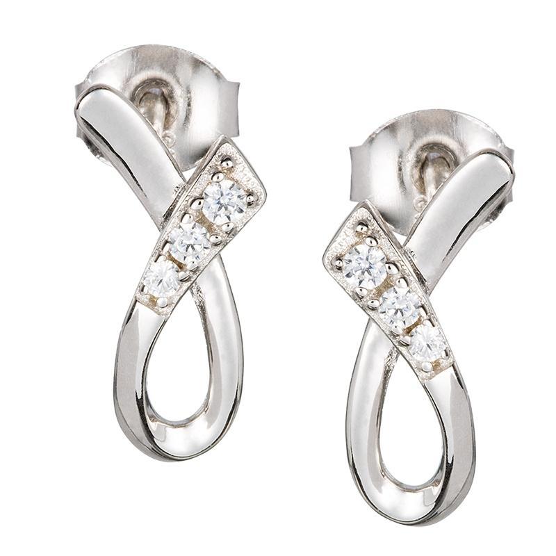 Infinite - Cercei de argint Preciosa (Crystal)