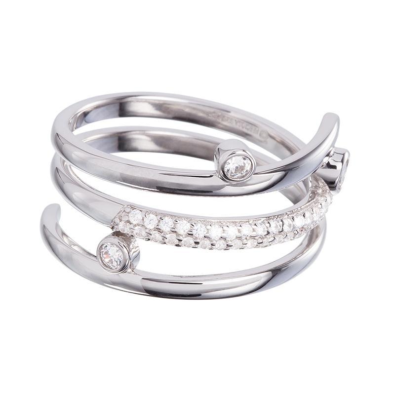 Infinite - Inel (B/C) de argint Preciosa (Crystal)