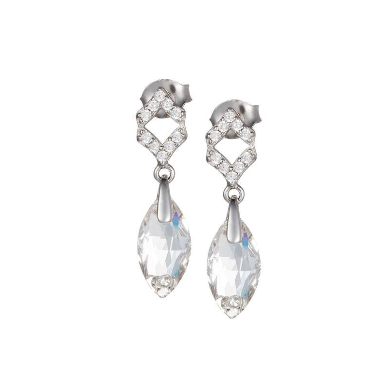 Crystal Bud - Cercei de argint Preciosa (Crystal)