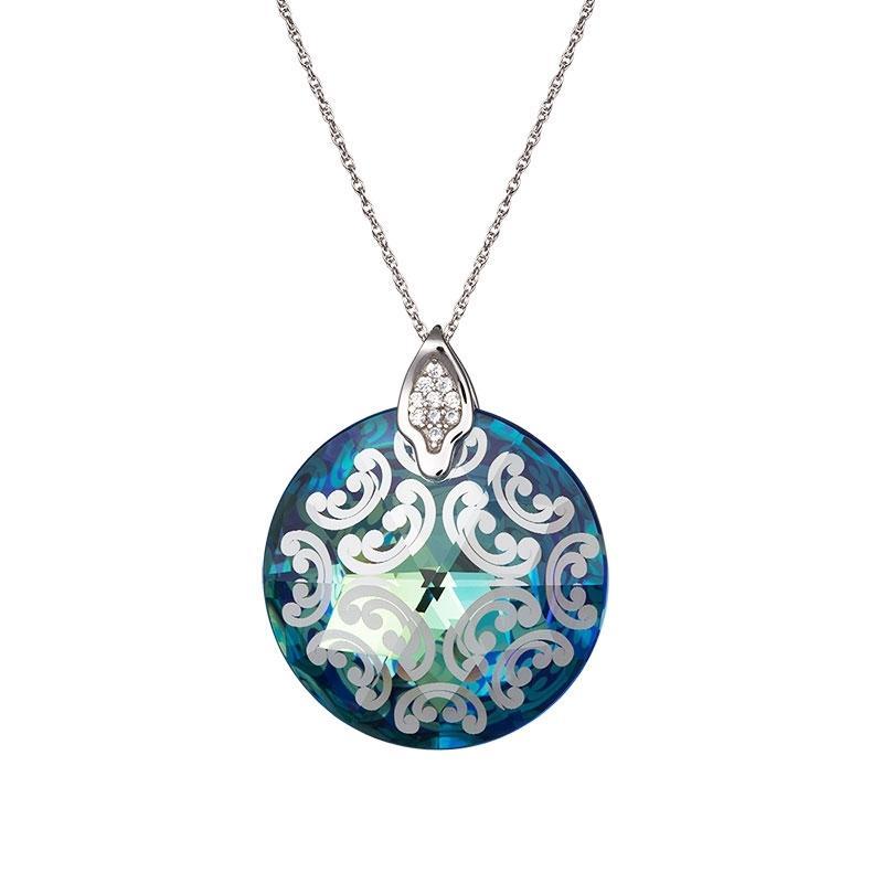 Crystal Rose I - Colier de argint Preciosa (Bermuda Blue)