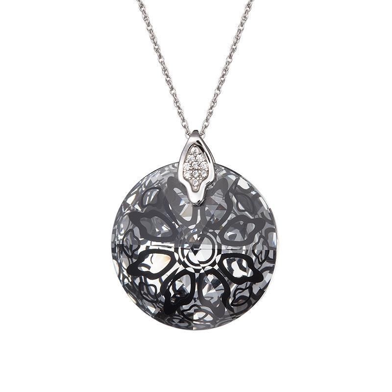 Crystal Rose II - Colier de argint Preciosa (Black)