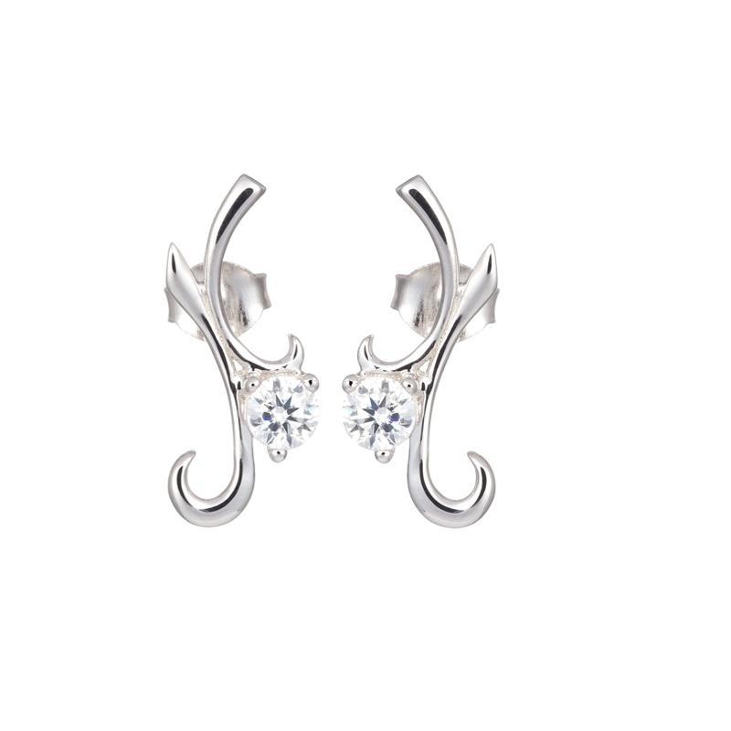 Fine Line - Cercei de argint Preciosa (Crystal)