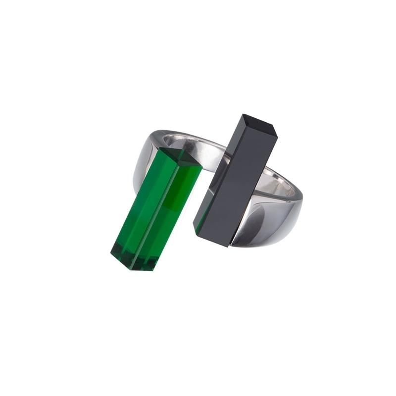 Fresh Style - Inel de argint Preciosa (Emerald)