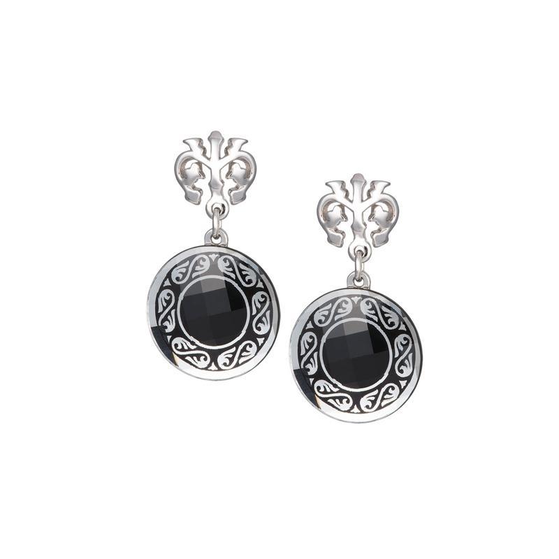 Magical Ornament - Cercei de argint Preciosa (Black)