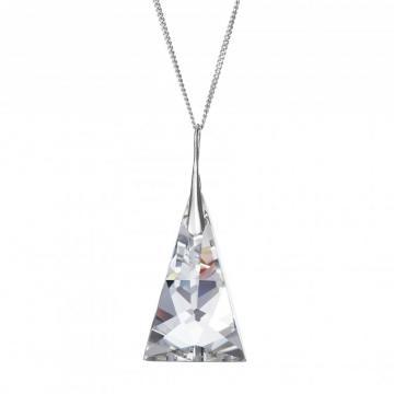Crystal pyramid - Colier de argint Preciosa (Crystal)