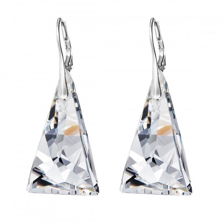 Crystal pyramid - Cercei de argint Preciosa (Crystal)