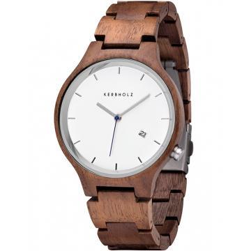 Ceas Kerbholz Lamprecht Date Walnut Silver 4251240401164