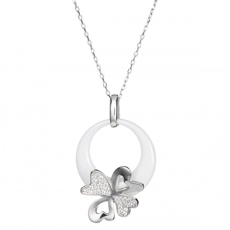 Vogue - Colier de argint Preciosa (Silver-White)