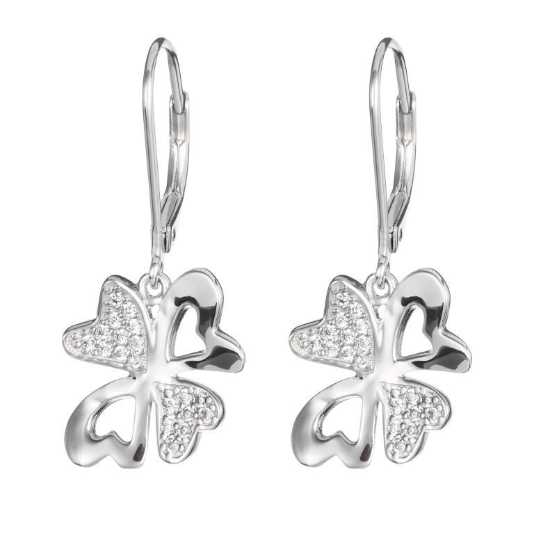 Vogue - Cercei de argint Preciosa (Silver-White)