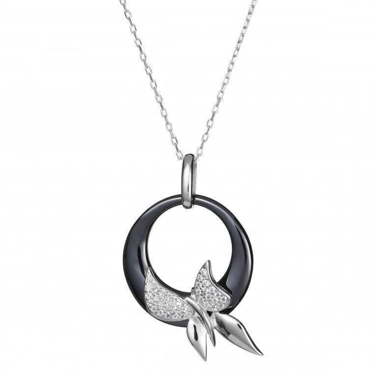 Fancy - Colier de argint Preciosa (Silver-Black)