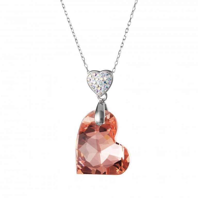 Wild Heart - Colier de argint Preciosa (Silver-Apricot)