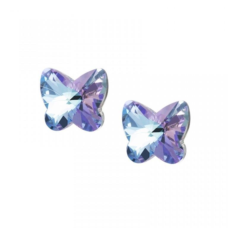 Butterfly Harmony - Cercei de argint Preciosa (Pink)