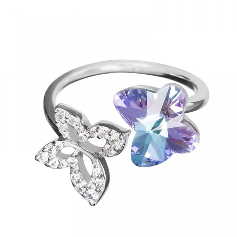 Butterfly Harmony - Inel de argint Preciosa (Pink)