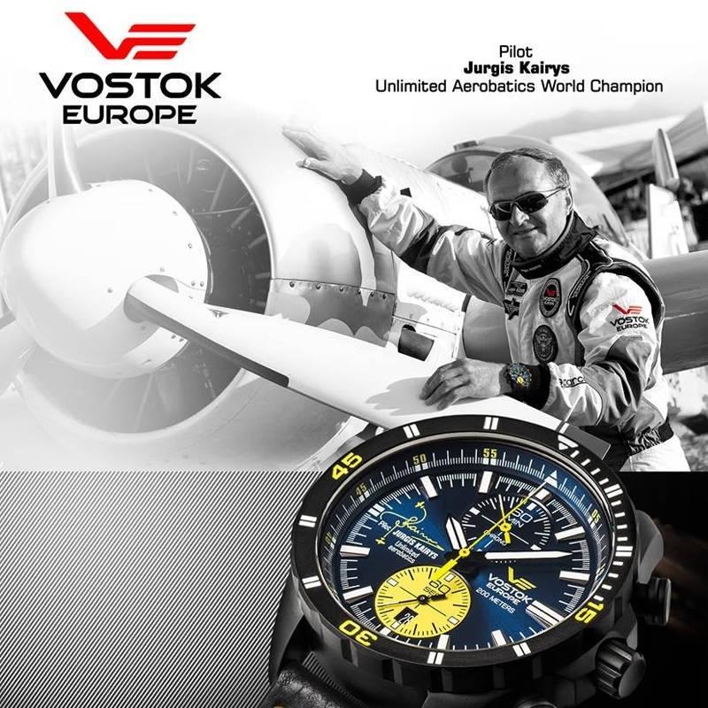 Ceas Vostok Europe Jurgis Kairys Grand Chrono Titanium 6S11/320J362