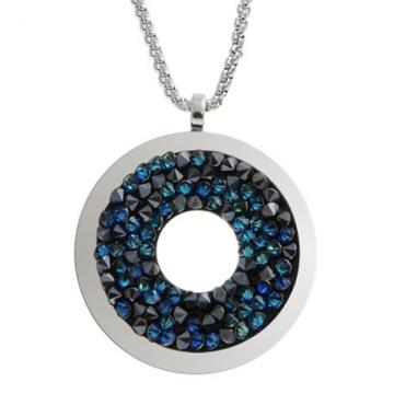 Colier cu cristale Swarovski FaBOS, Bermuda blue 7430-5402-05