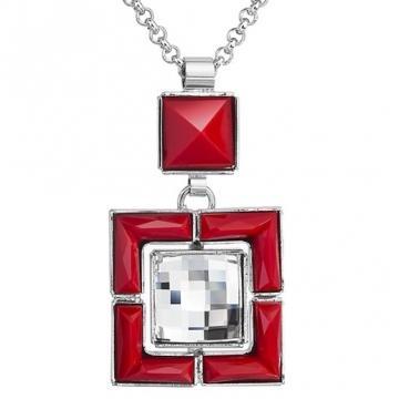 Colier cu cristale Swarovski FaBOS, Crystal / Red 7430-5966-03