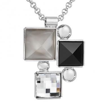 Colier cu cristale Swarovski FaBOS, Colourmix (black) 7430-6002-03