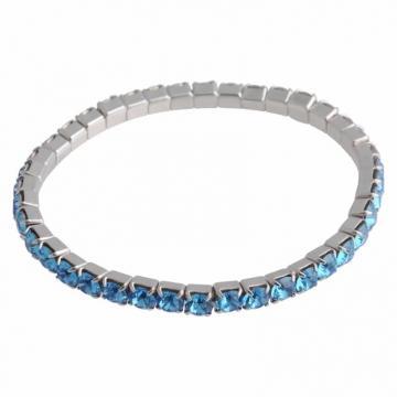 Bratara cu cristale Swarovski FaBOS, Aquamarine 7450-1282-03