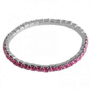 Bratara cu cristale Swarovski FaBOS, Rose 7450-1282-07
