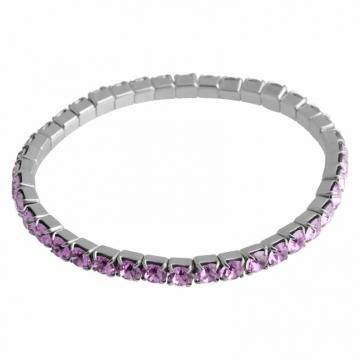 Bratara cu cristale Swarovski FaBOS, Violet, 7450-1282-12