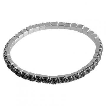 Bratara cu cristale Swarovski FaBOS, Silver Night 7450-1282-05