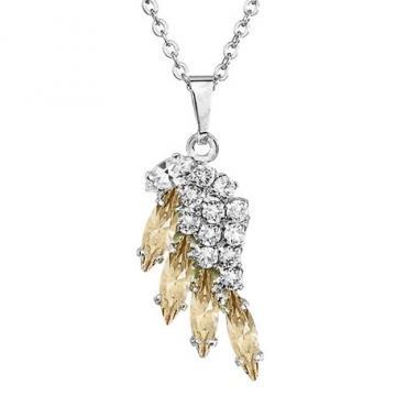Colier cu cristale Swarovski FaBOS, Crystal / Golden Shadow 7430-6046-03