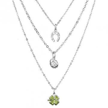 Colier cu cristale Swarovski FaBOS, Green 7430-6059-03