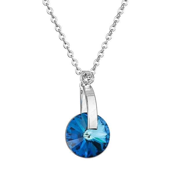 Colier cu cristale Swarovski FaBOS, Bermuda Blue 7430-6068-35