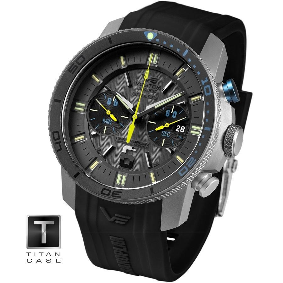 Ceas Vostok Europe Ekranoplan Grand Chrono Titanium Edition 6S21/546H514
