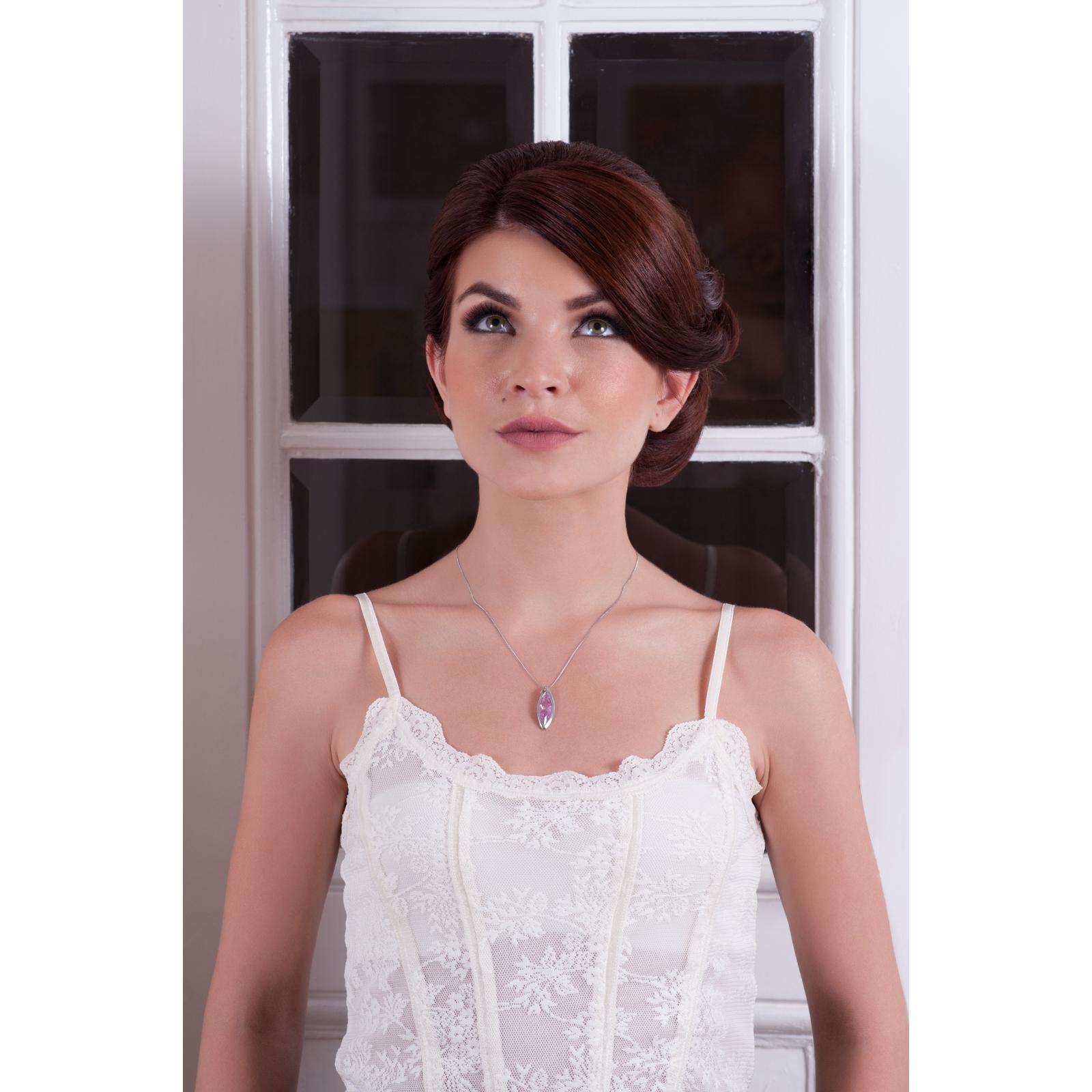 Famous - Colier de argint Preciosa (Rosa)