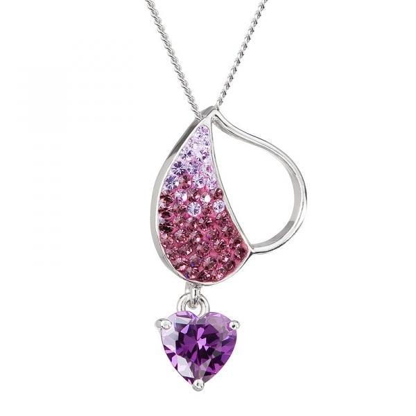 Glowing Hearts - Colier de argint Preciosa (Amethyst)