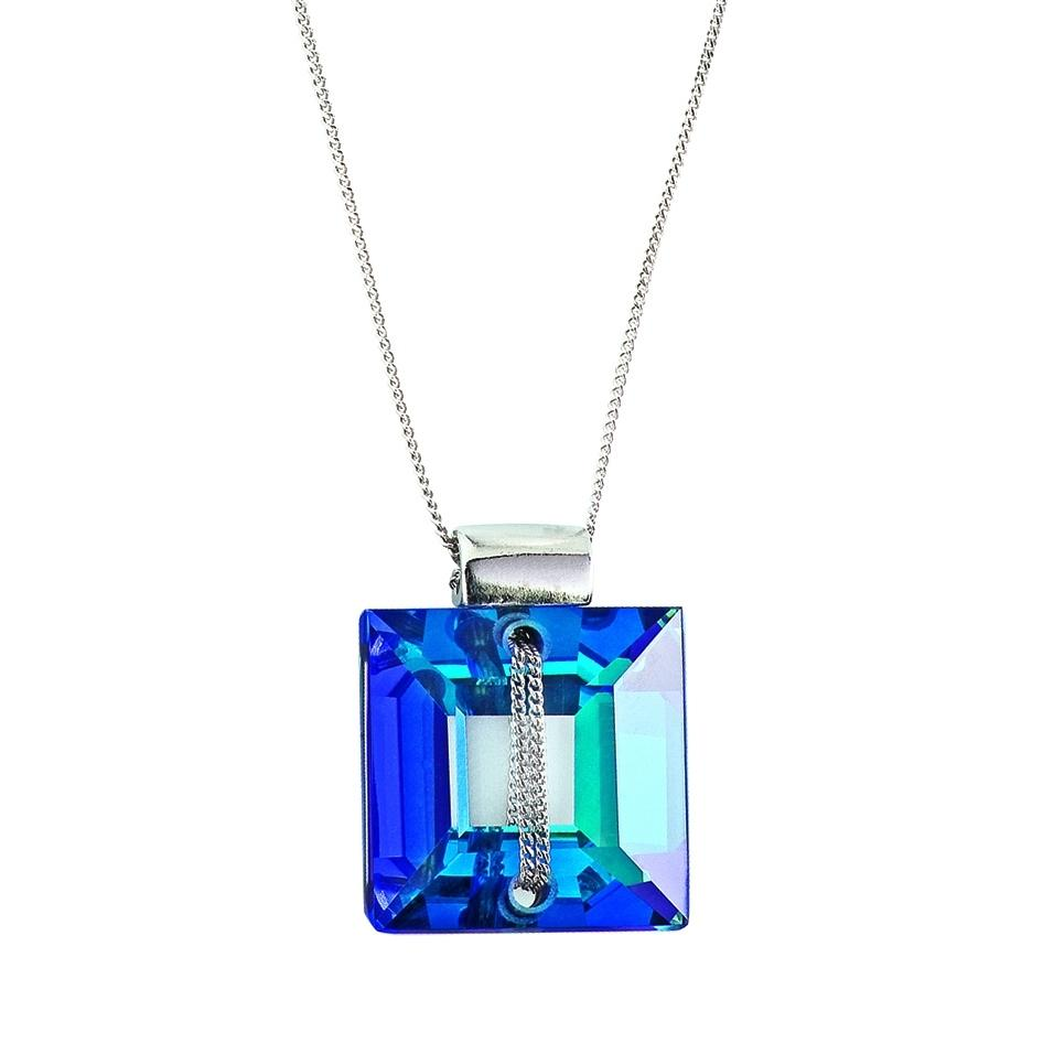 Crystal Secret - Colier de argint Preciosa (Bermuda Blue)