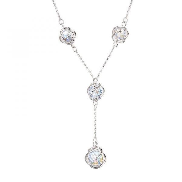 Romantic Beads - Colier de argint Preciosa (Crystal AB)