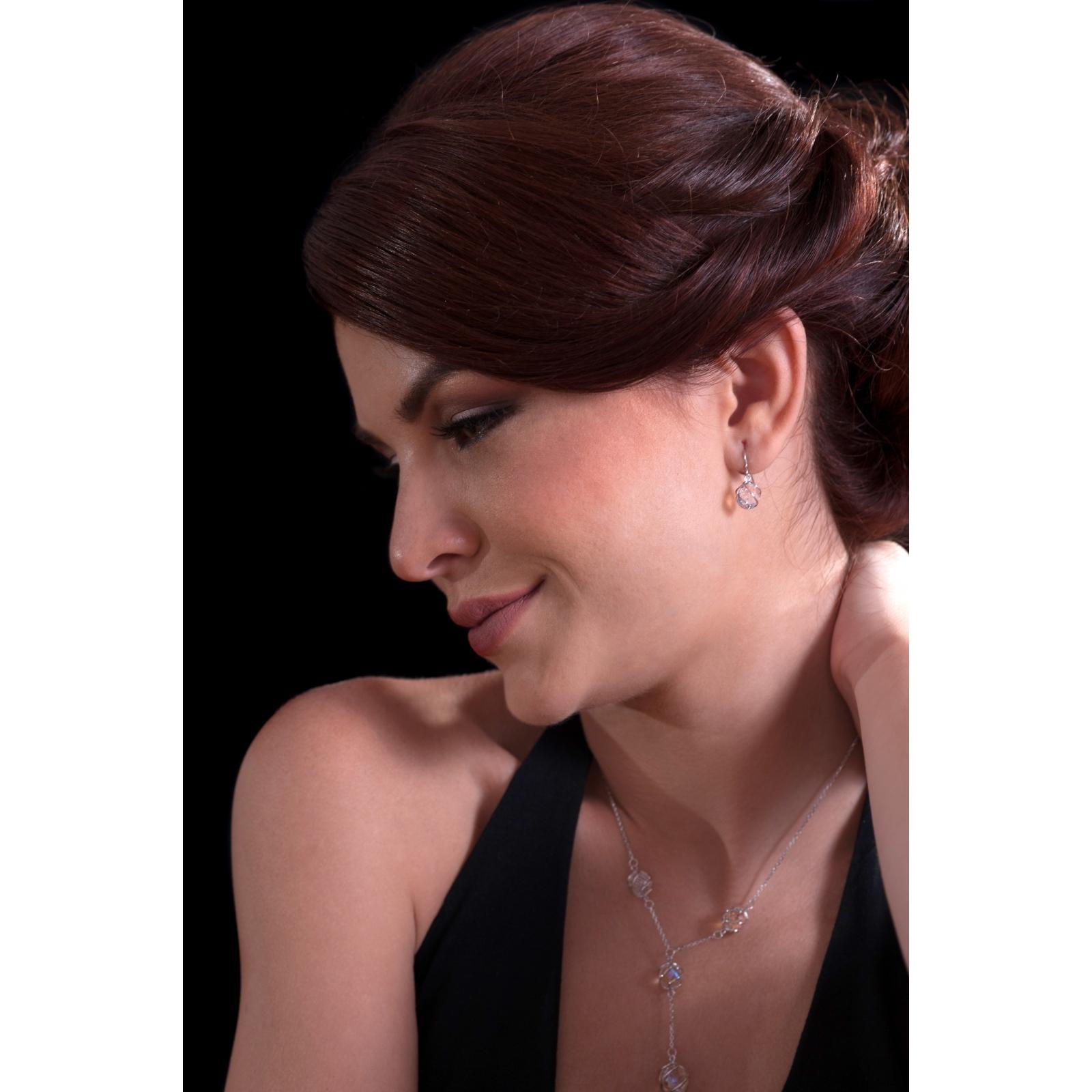 Romantic Beads - Cercei de argint Preciosa (Crystal AB)