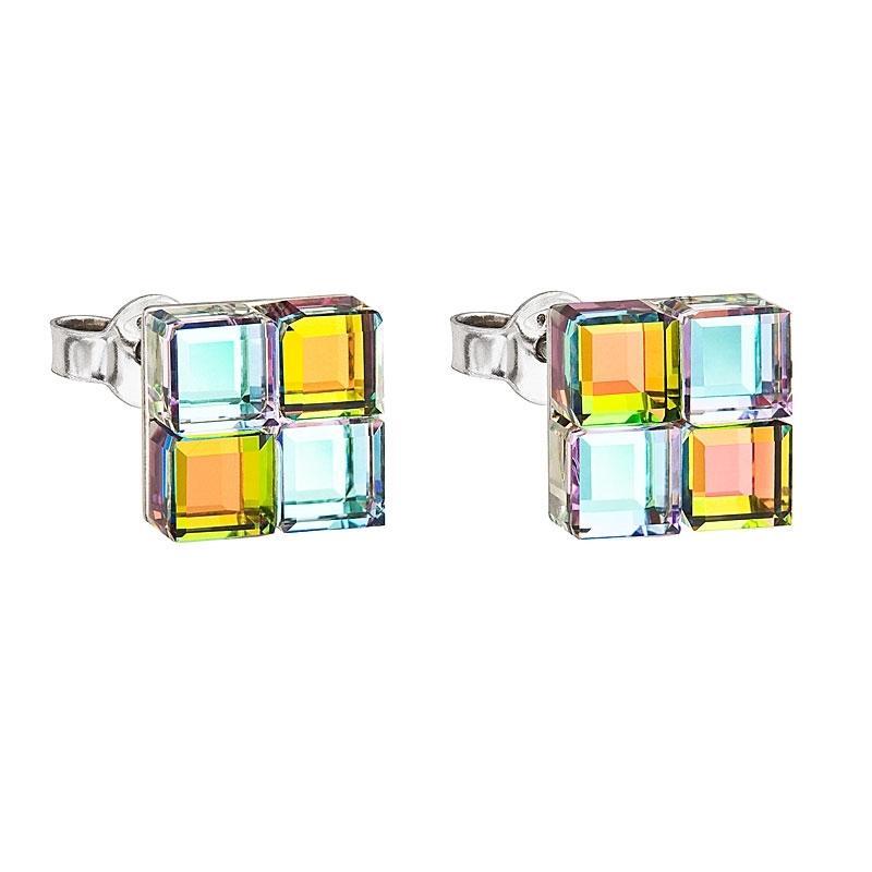 Glittering Cubes - Cercei de argint Preciosa (Vitrail L/M)