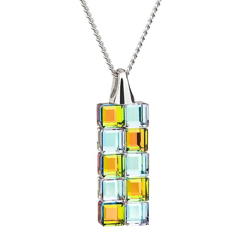 Glittering Cubes - Colier de argint Preciosa (Vitrail L/M)