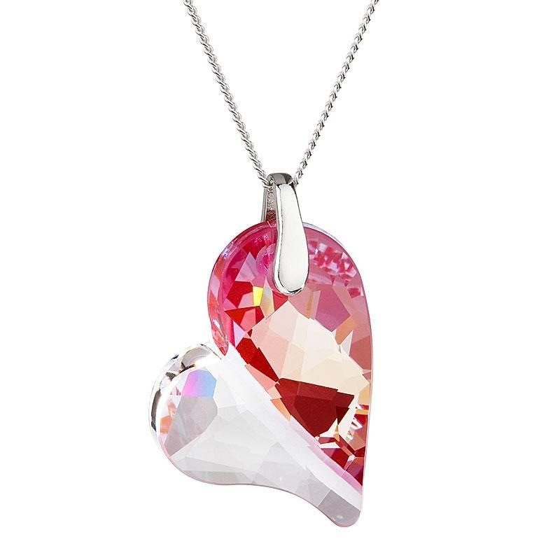 Lover's Love - Colier de argint Preciosa (Fuchsia)