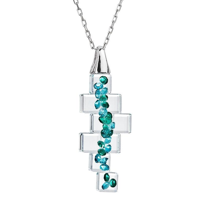 Crystal Perfection - Colier de argint Preciosa (Emerald)