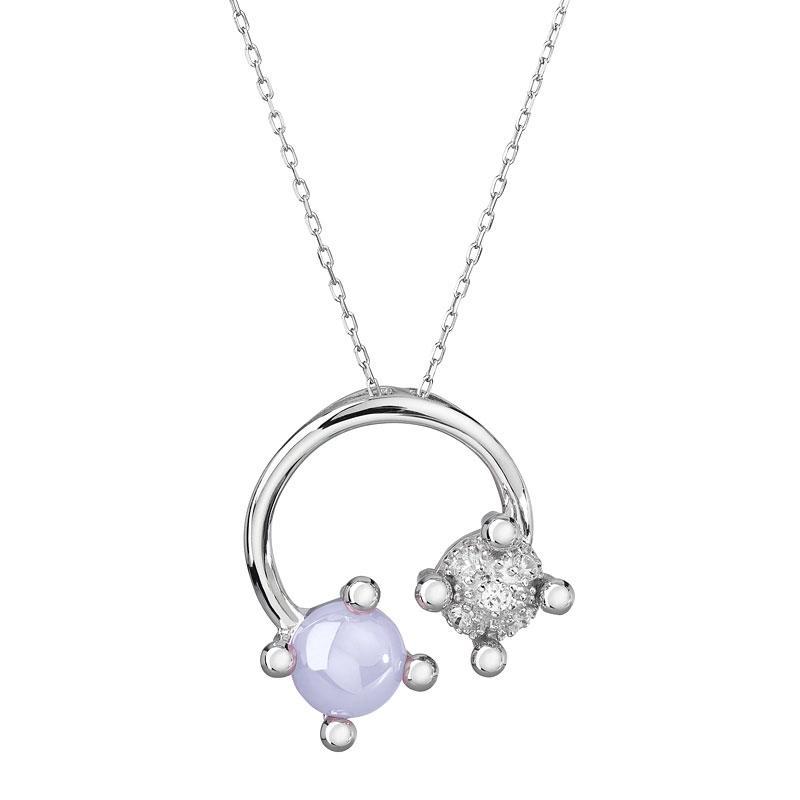 Blossoms - Colier de argint Preciosa (Violet)
