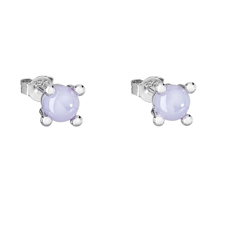 Blossoms - Cercei de argint Preciosa (Violet)